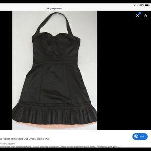Marc Jacobs black satin halter dress